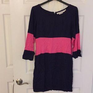 Gretchen Scott Designs navy and hot pink dress